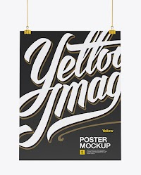 Download Envato Poster Mockup Yellowimages