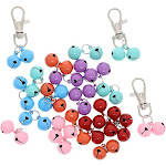 Juvale 24-Pack Assorted Pet Collar Bell for Cats and Dogs, Includes 3 Clips, 1/2 Inches