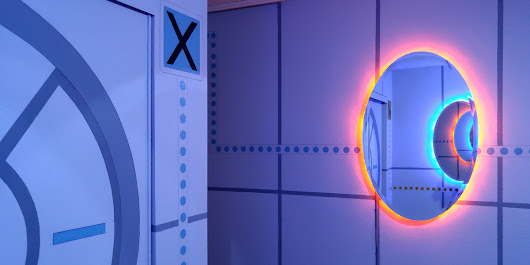 This Lucky Kid Got the Ultimate Portal-Themed Room | Make: