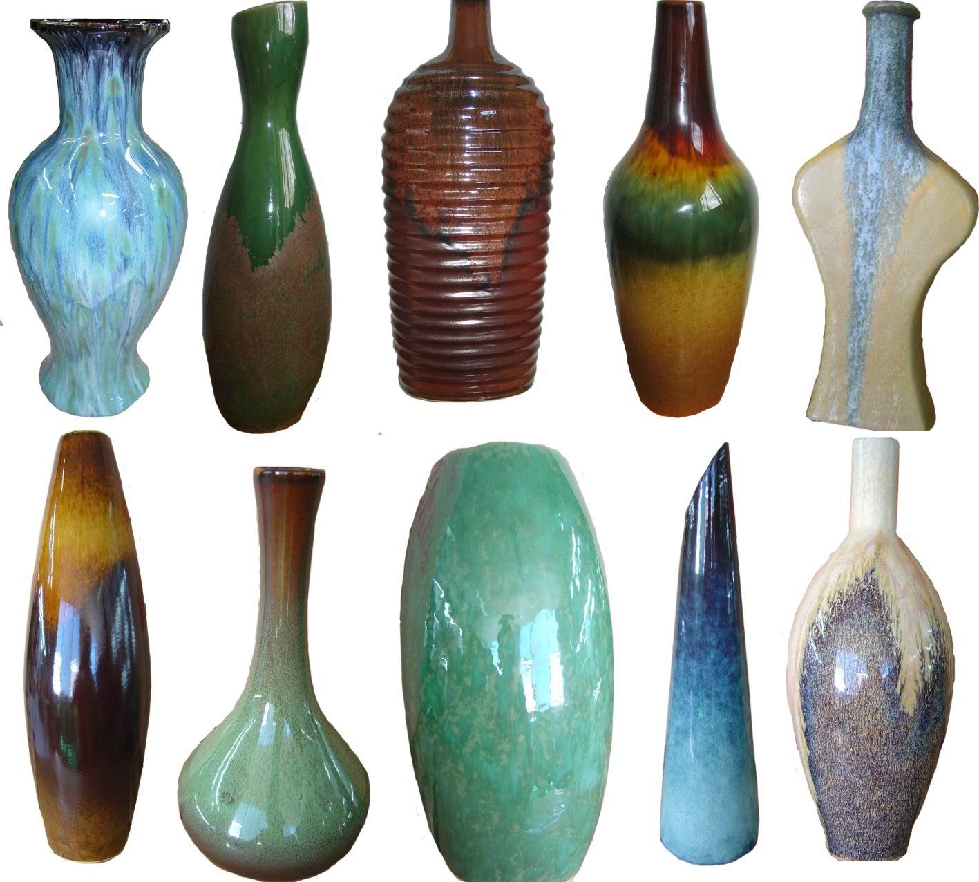 Glazed ceramic, Porcelian Vase, Home decor with drippy glaze on top