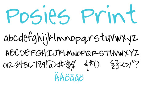 click to download Posies Print