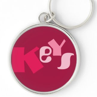 KeYS in shades of Red and Pink - Large Round keychain