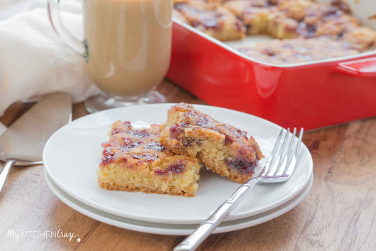Raspberry Blondies - My Kitchen Craze