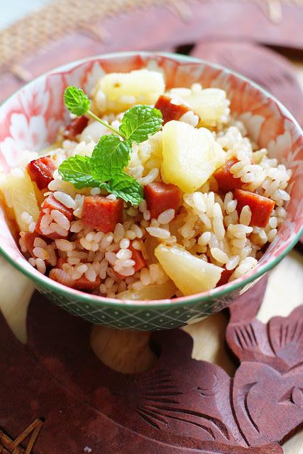 Spam & Pineapple Teriyaki Fried Rice
