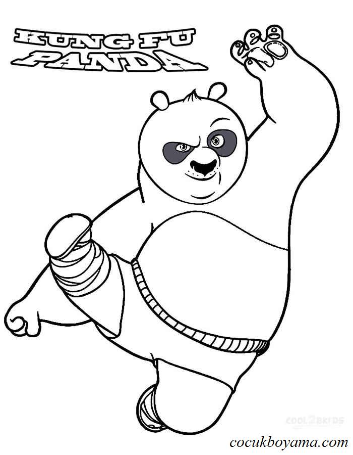 Kung Fu Panda 42 ücretsiz Boyama Resimleri