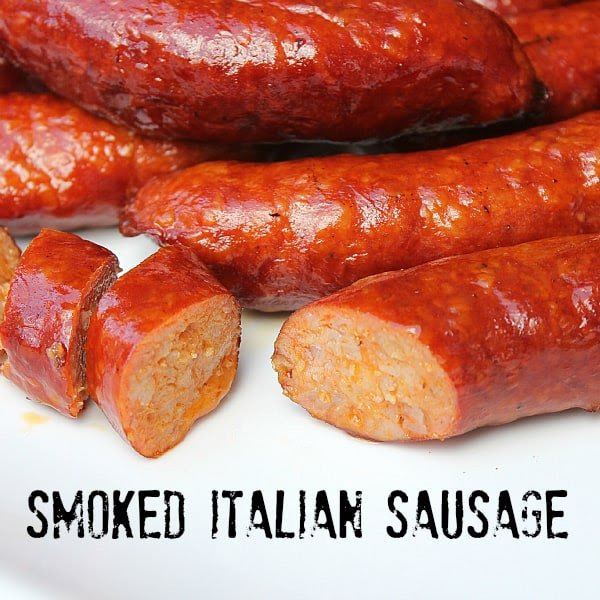 Smoked Italian Sausage Recipe - Directions for a Bradley ...