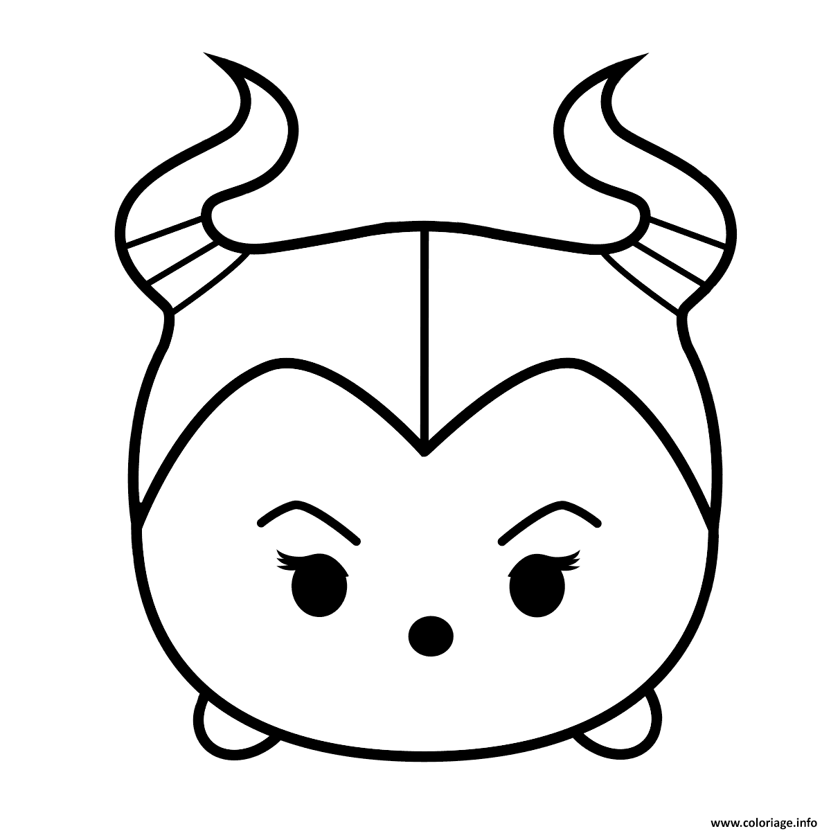 Coloriage Cute Maleficent Tsum Tsum Jecoloriecom