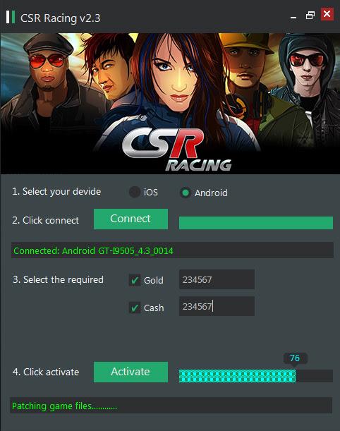 CSR Racing cheats 2014