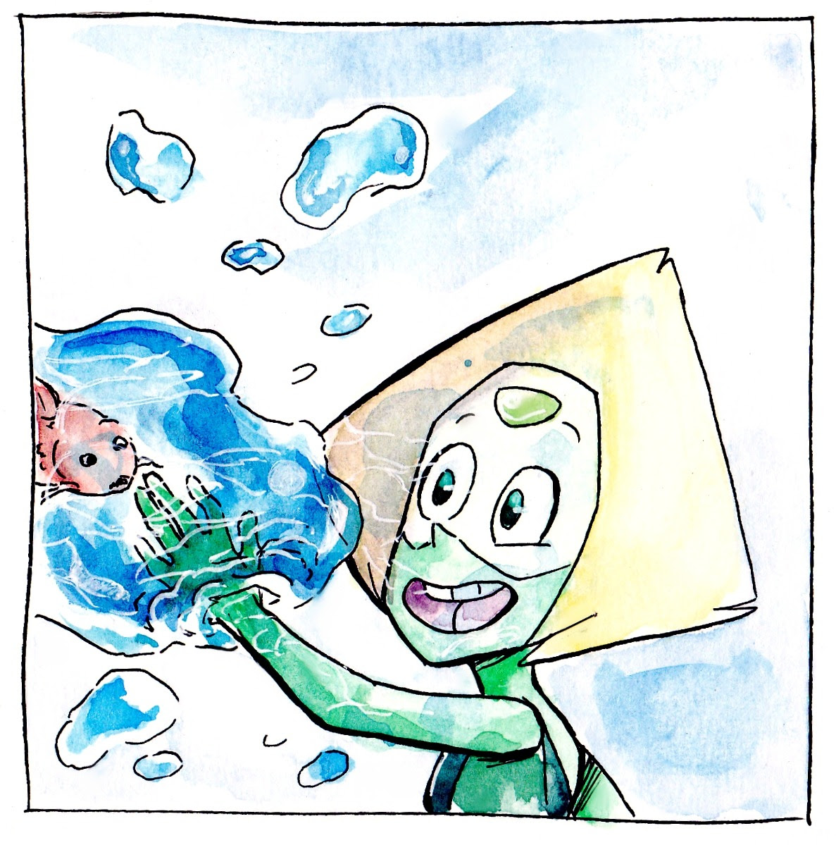 Inktober Day 6 Someone wants more Peridot, and here she comes :D