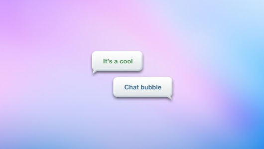 Bubble Chat - 365psd