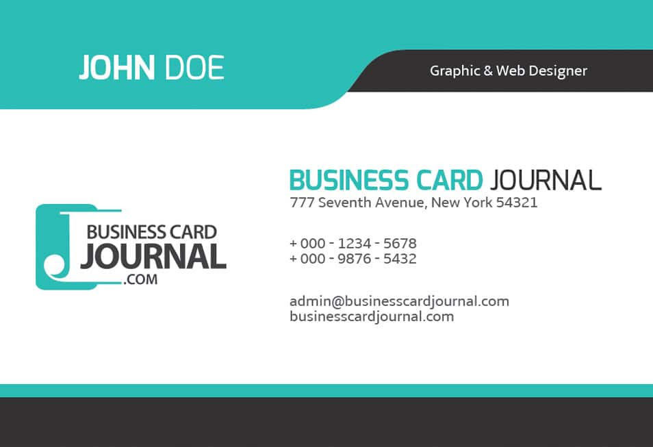 Cool Blue Creative Business Card Template