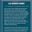 Self Discovery Journal For Men: 121 Thought Provoking Questions: Self Discovery Journal Questions For Men: Shalu Sharma: 9781539692867: Amazon.com: Books