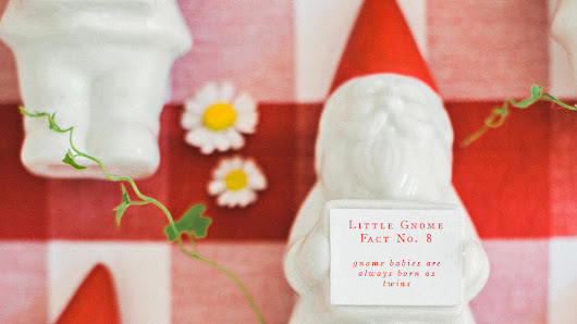 A Gnome-Themed Rehearsal Dinner's Details