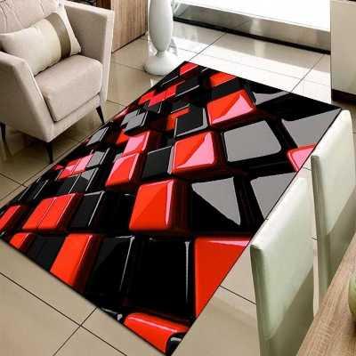Else Black Red Cubes Gray Boxes Geometric 3d Print Non Slip Microfiber Living Room Decorative Modern Washable Area Rug Mat Carpet Aliexpress