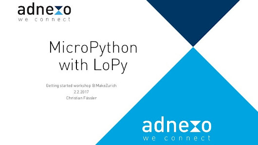 Getting Started with MicroPython and LoPy