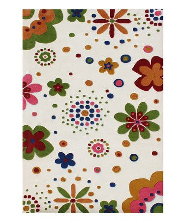Take a look at this White Flower Power Rug by Horizon Home Rugs on #zulily today!
