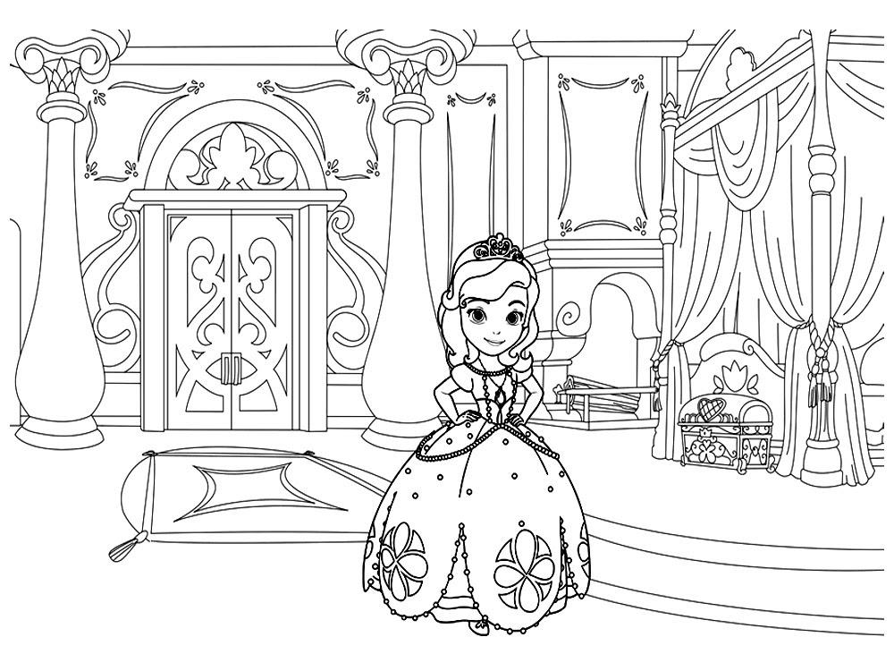Gratuitos Dibujos Para Colorear La Princesa Sofía Descargar E