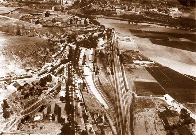 Barrio de Santa Bárbara y Estación de Ferrocarril de Toledo a comienzos del siglo XX