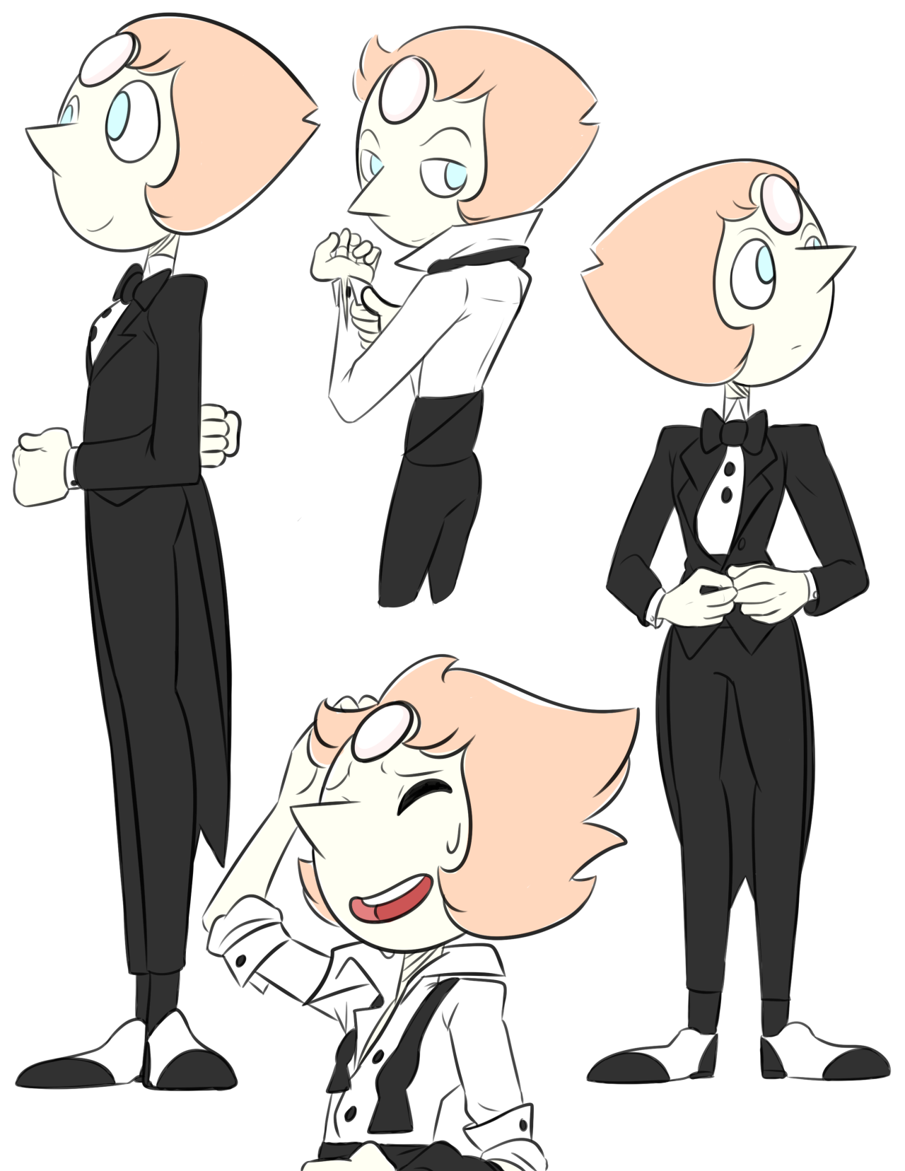 Wanna know what I did today?? Draw pearl in her tux like a million times