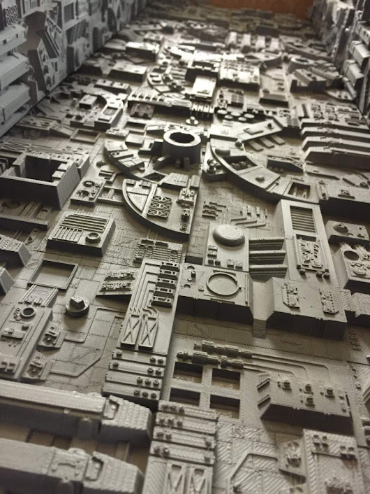 Model of the Week: Sci-Fi Wall Tiles [Glue Them To Yo' Face!] - SolidSmack -