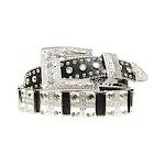 Blazin Roxx N3518401-S 1.5 in. Womens Croc Square Cross Belt Black - Small