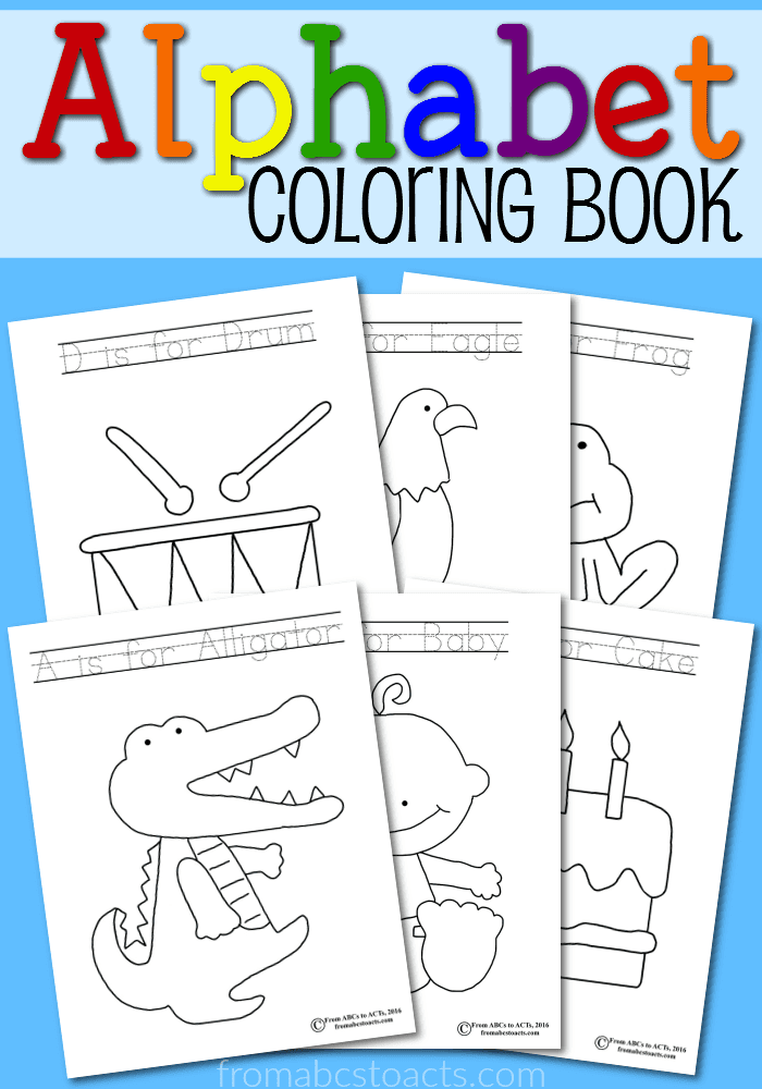 Printable Alphabet Coloring Book | From ABCs to ACTs