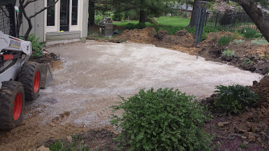 The Progression of a Patio Paver Project - Brentwood Landscape & Design Inc.