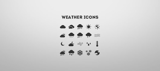 Weather Icons freebie - vector files are included