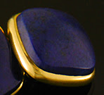 George Street Lapis lazuli cufflinks crafted in 14kt gold. (J9154)