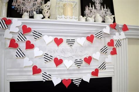 Paper Heart Garland, Valentines Day Garland, Queen Of