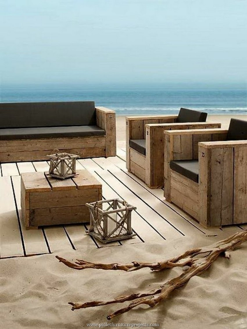 wooden pallet patio beach furniture