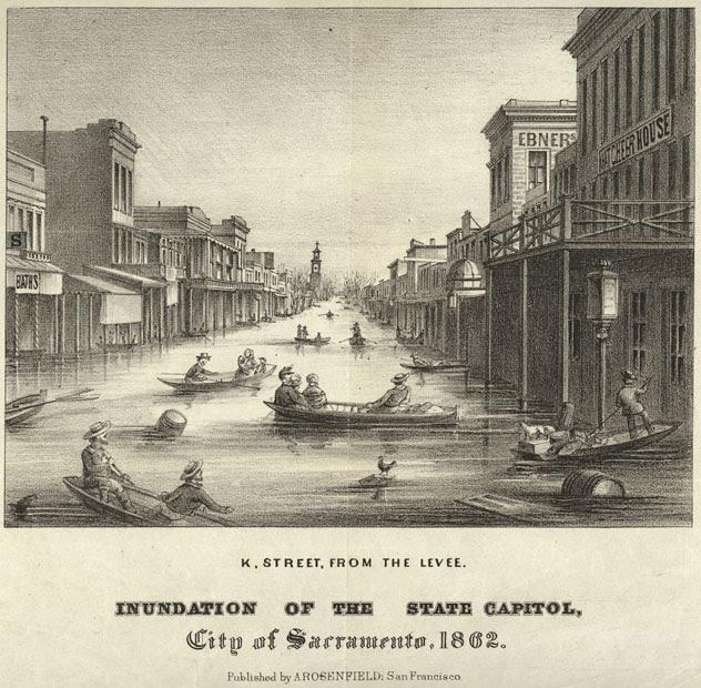 California storm of 1861