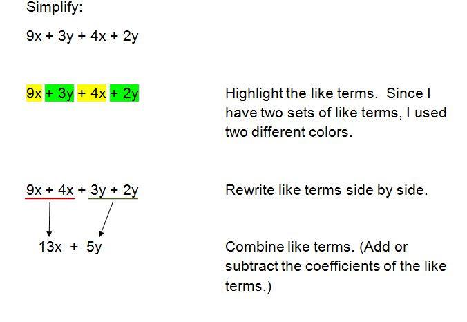 simplifying algebraic expressions 5