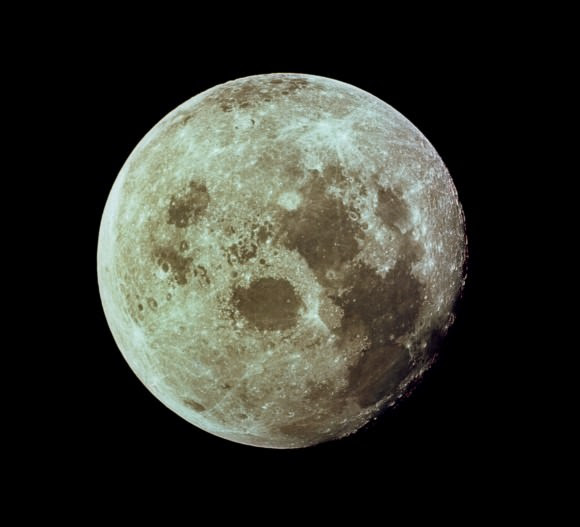 Many of the features on the moon are named as oceans. Credit: NASA