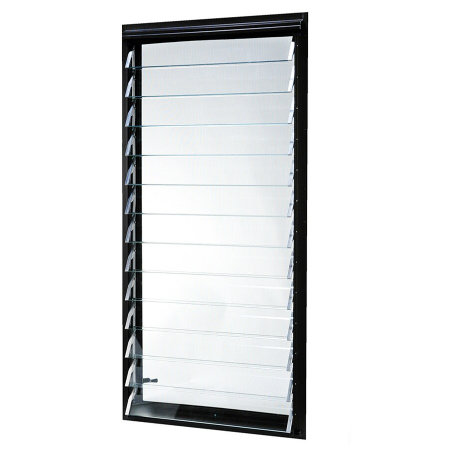 TAFCO 29.29-in x 29.3729-in Jalousie Single Pane Annealed Rectangle