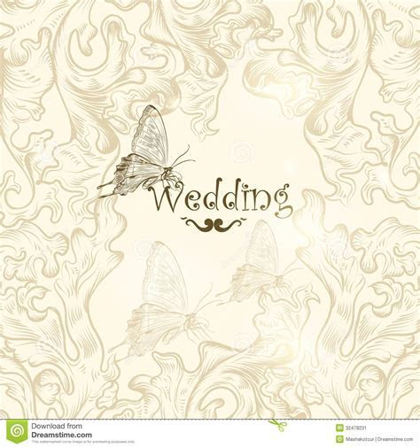 Cute Wedding Background For Design Stock Image   Image