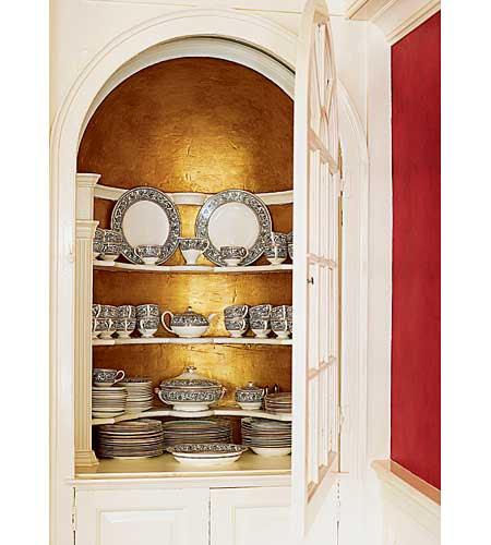 original china cupboard in renovated Georgian