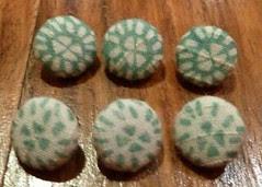 Handmade green buttons