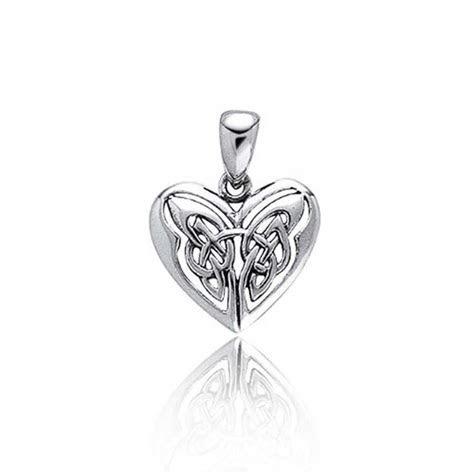 Celtic Butterfly Heart Sterling Silver Pendant