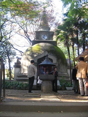 Shrine next to the Face of Buddha