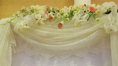 Wedding Decorations With Flowers.Interior Of A Wedding