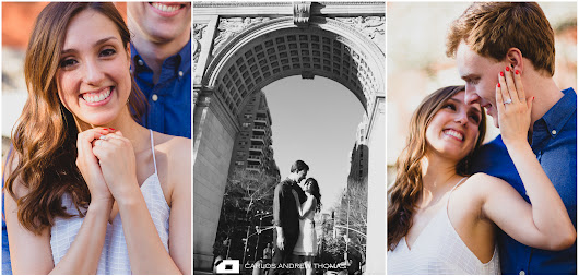 Cav & Julia|Washington Square Park Proposal Photography