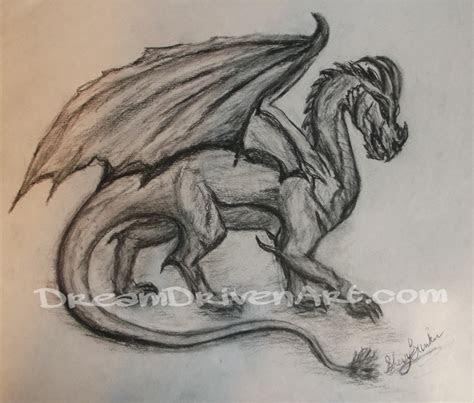 charcoal dragon drawing dream driven art