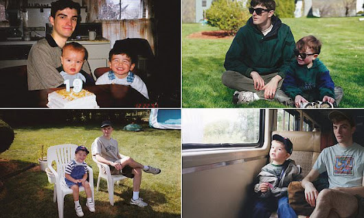 Photographer edits himself into his childhood pictures | Daily Mail Online