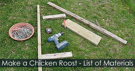 How to Build a Chicken Roost - Making a Chicken Perch for Hen House