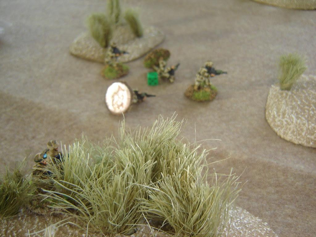 Casualties taken as open ground crossed