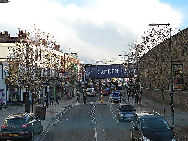 camden town from the bus
