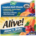 Alive Multi-Vitamin, Complete, Men's 50+, Tablets - 50 tablets