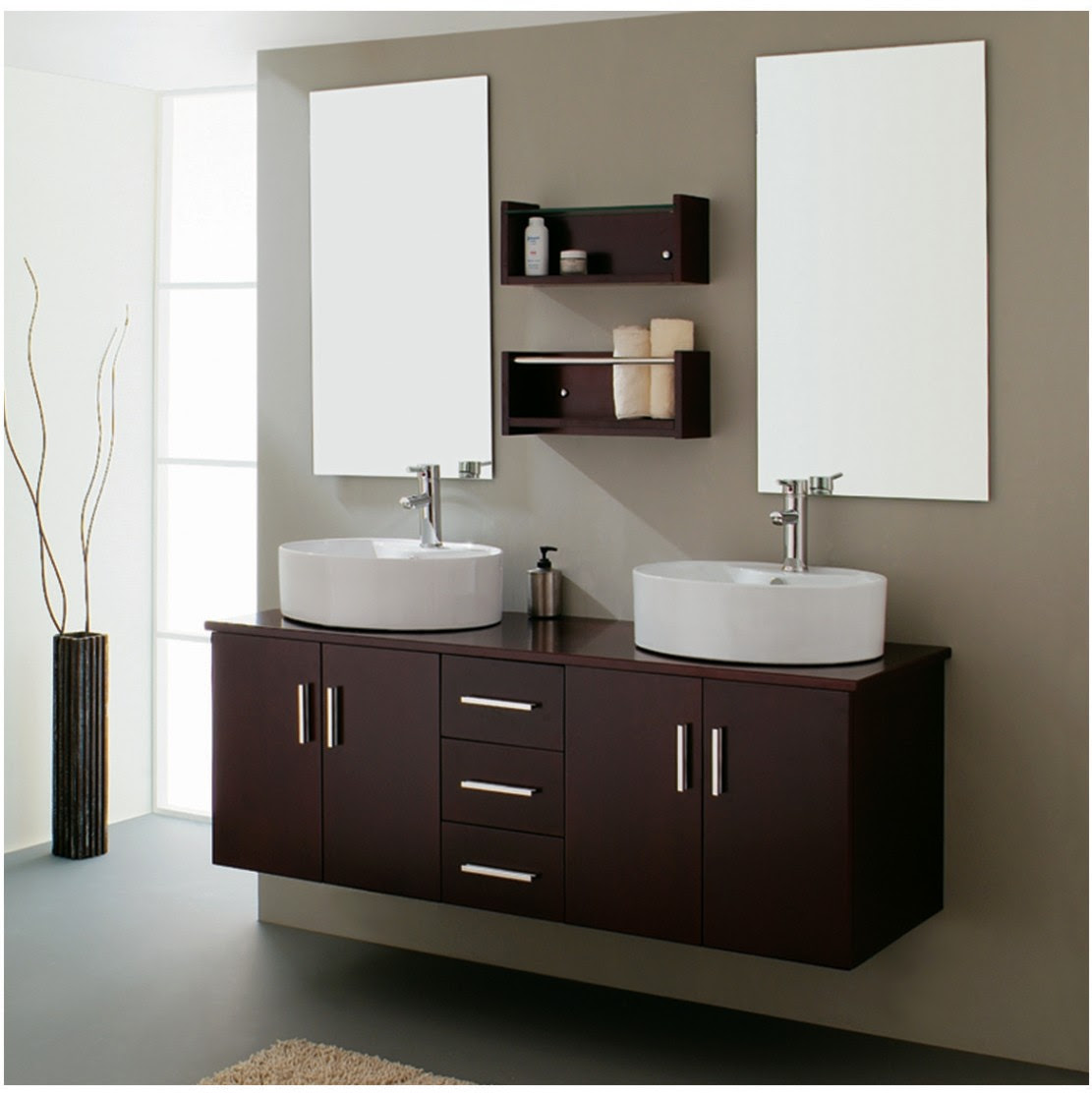 House Decorating Ideas | Modern Bathroom Vanities Decorating Ideas