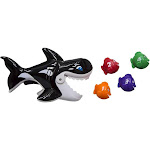 "Swim Way 7"" Gobble Gobble Guppies Swim Learn Whale Pool Children's Toy"